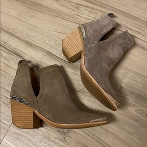 Jeffrey Campbell Cromwell Taupe Distressed Suede